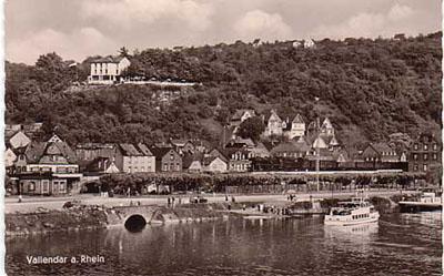 Alte Rheinansicht von Vallendar